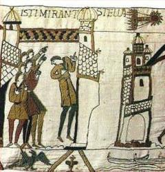 Famous Bayeux tapestry dramatizes the disturbing appearance of Halley's comet in 1066.
